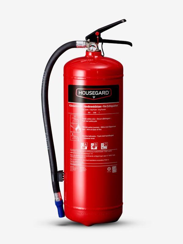 Pulverslokker 6 kg 55A, rød