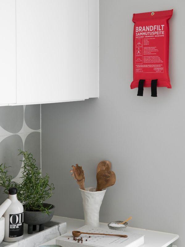 Brannteppe 120x180 cm, rød